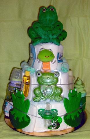 Frog 3 Tier Diaper Cake