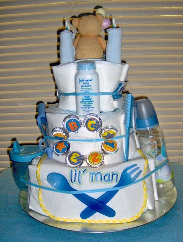 Blue Boy 3 Tier Diaper Cake