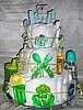 Green 3 Tier Diaper Cakes