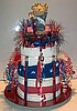 USA / 4th of July Towel Cake (JULY)